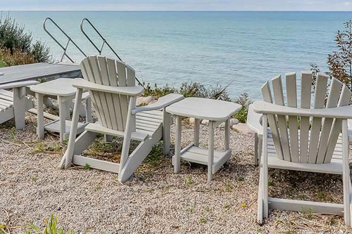 Adirondack chair at beach