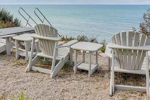 Adirondack chair at beach