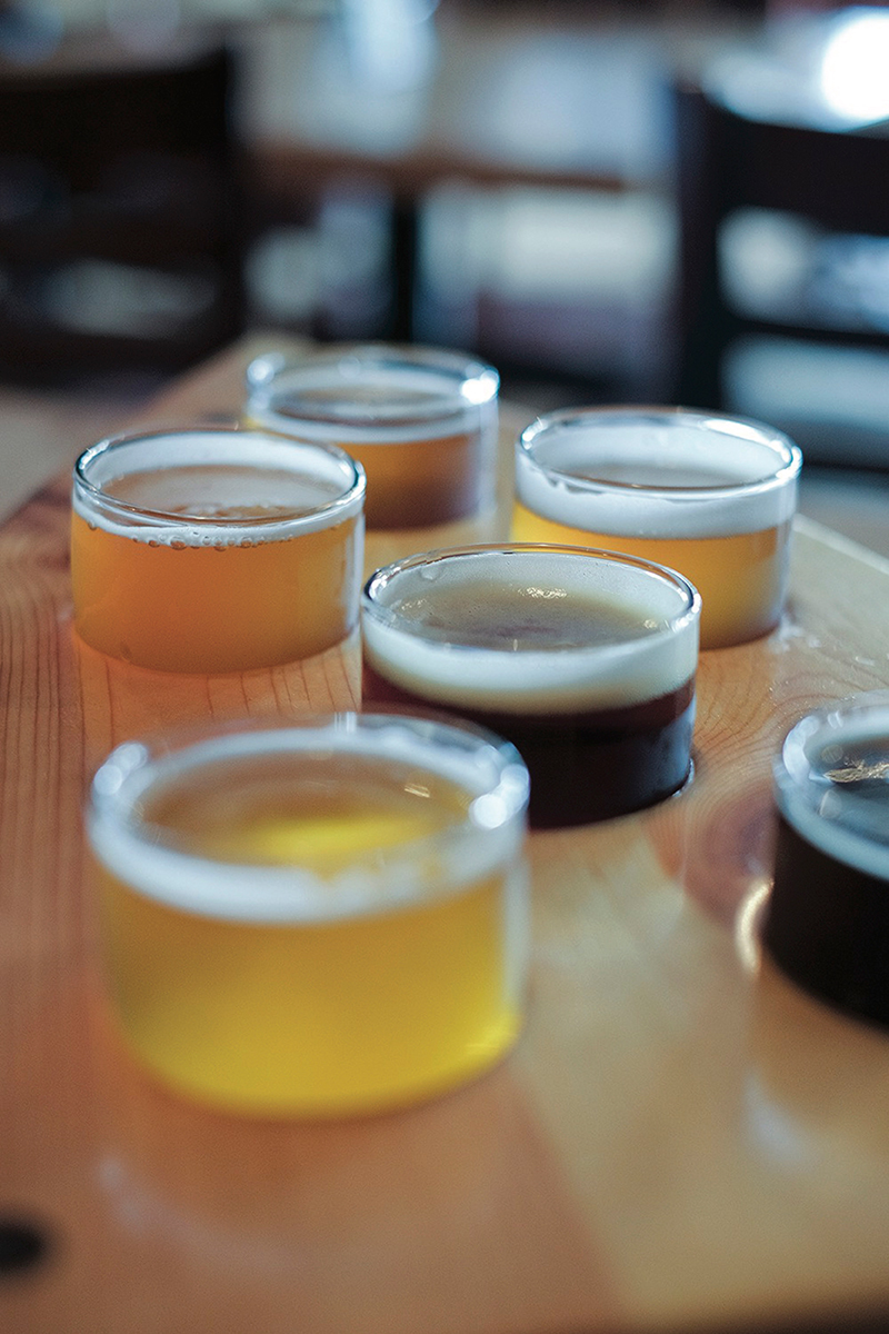 Big Lake Brewing Flight