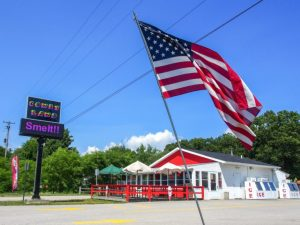 Coney Land with American Flag