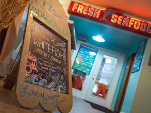 Fish Monger chalkboard sign