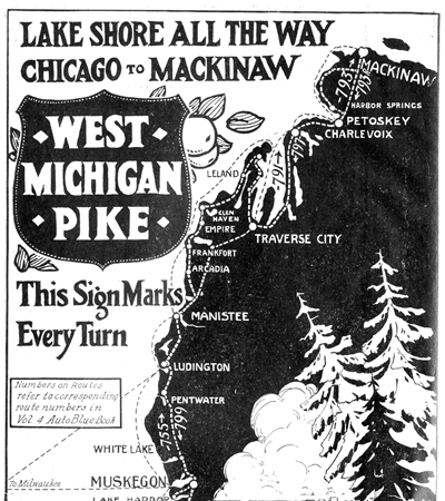 West Michigan Pike 1922 Route Cover Image